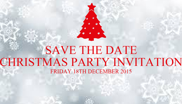 Save The Date Christmas Party Invitation Friday 18th December 2015