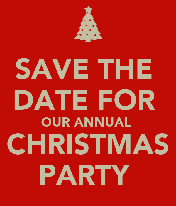 Save The Date For Our Annual Christmas Party Poster Ryan Keep