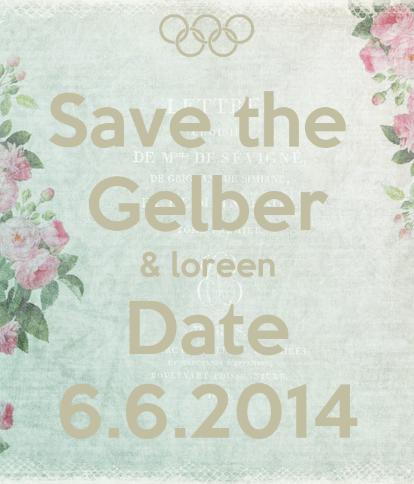 Save the  Gelber & loreen Date 6.6.2014