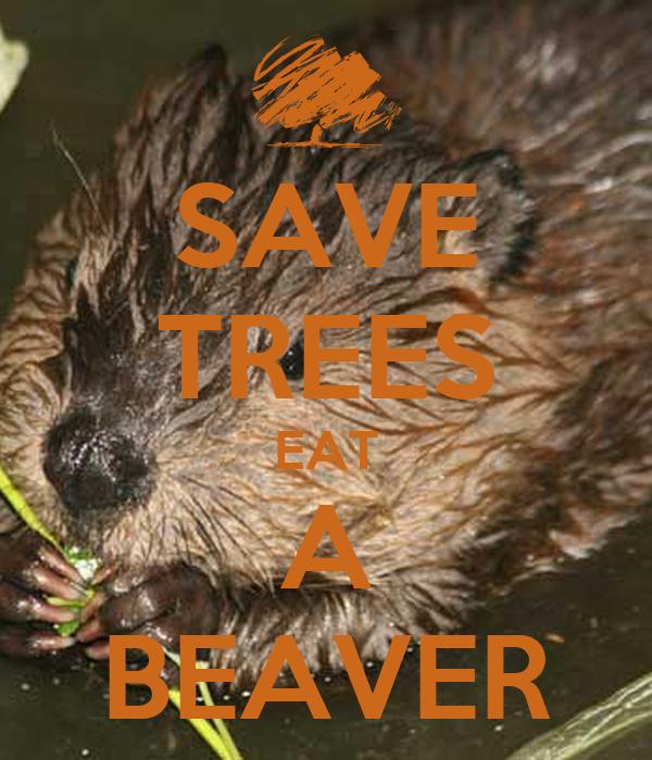 SAVE TREES EAT A BEAVER