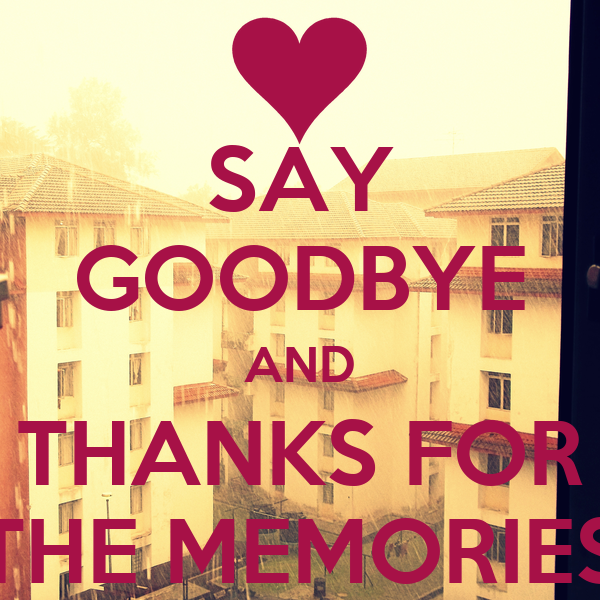 how to say memories that is going to happen