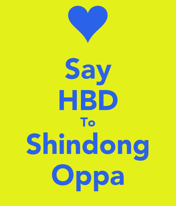 Say HBD To Shindong Oppa
