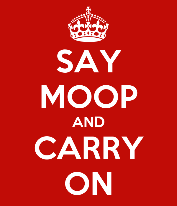SAY MOOP AND CARRY ON