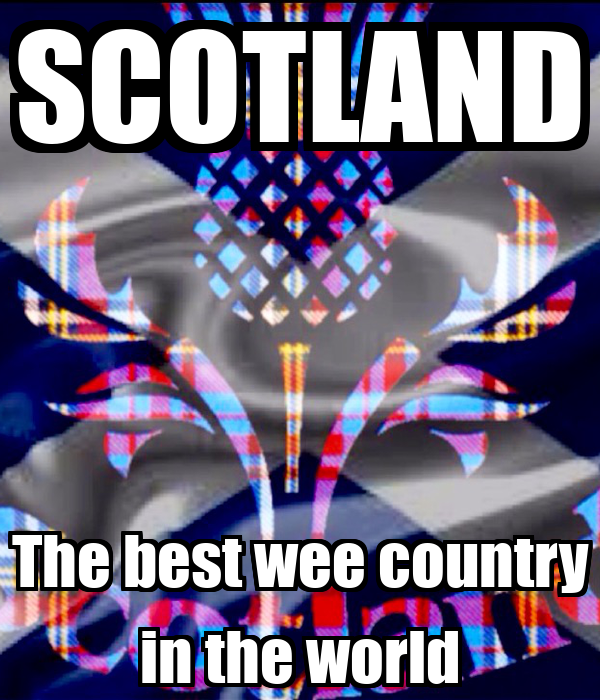 Scotland the best wee country in the world poster mdk2 keep calm o