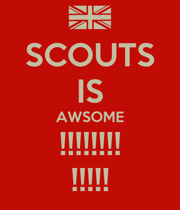 SCOUTS IS AWSOME !!!!!!!! !!!!!