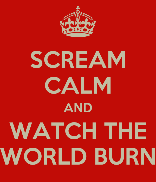 SCREAM CALM AND WATCH THE WORLD BURN
