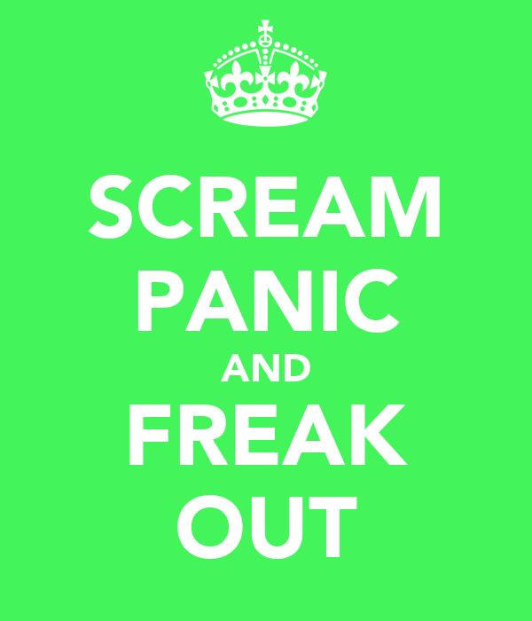 SCREAM PANIC AND FREAK OUT