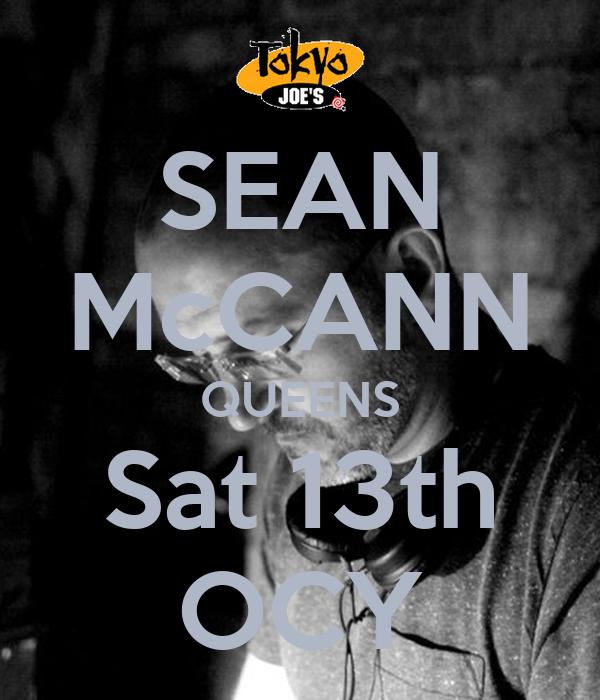 SEAN McCANN QUEENS Sat 13th OCY