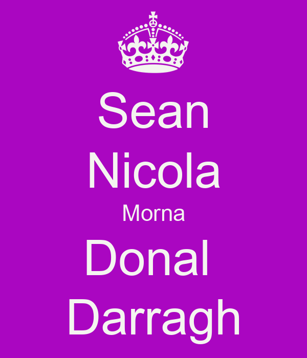 Sean Nicola Morna Donal  Darragh