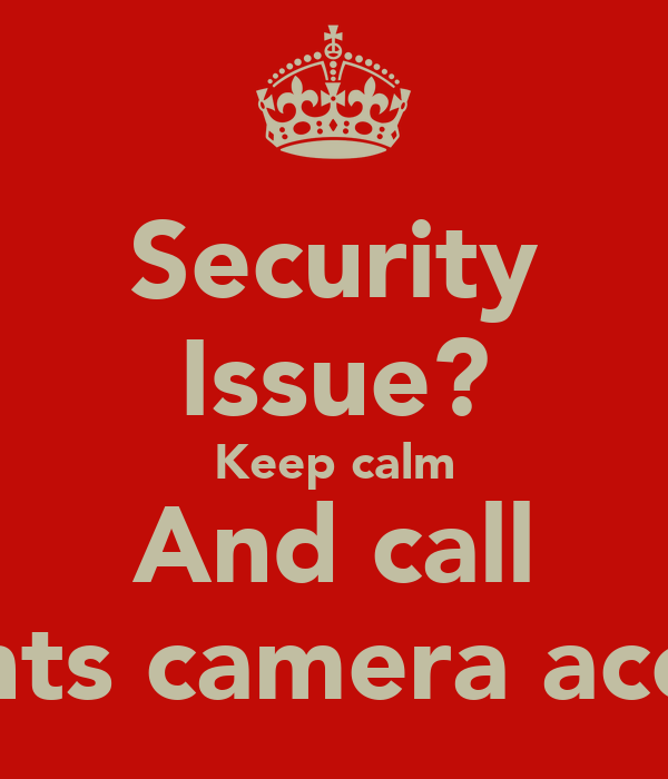 Security Issue? Keep calm And call Lights camera access