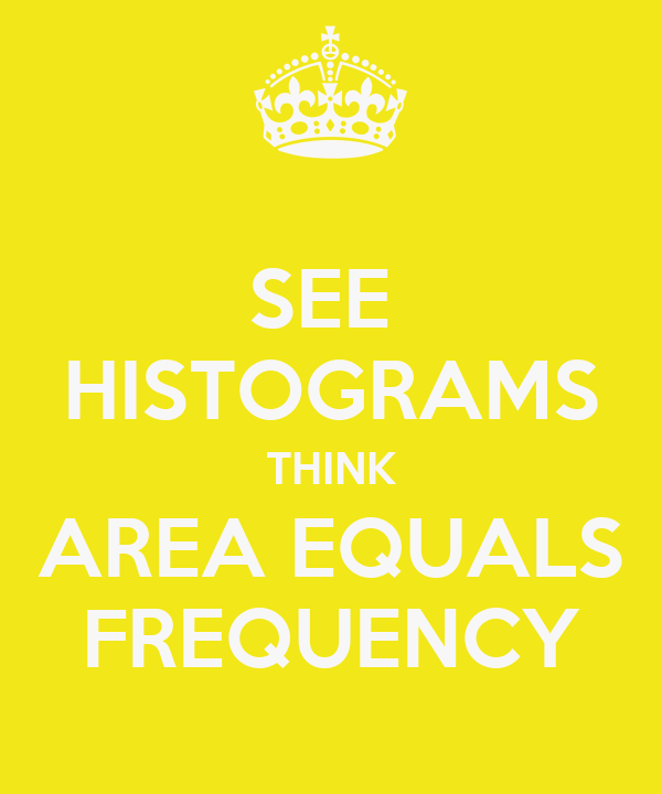 SEE  HISTOGRAMS THINK AREA EQUALS FREQUENCY