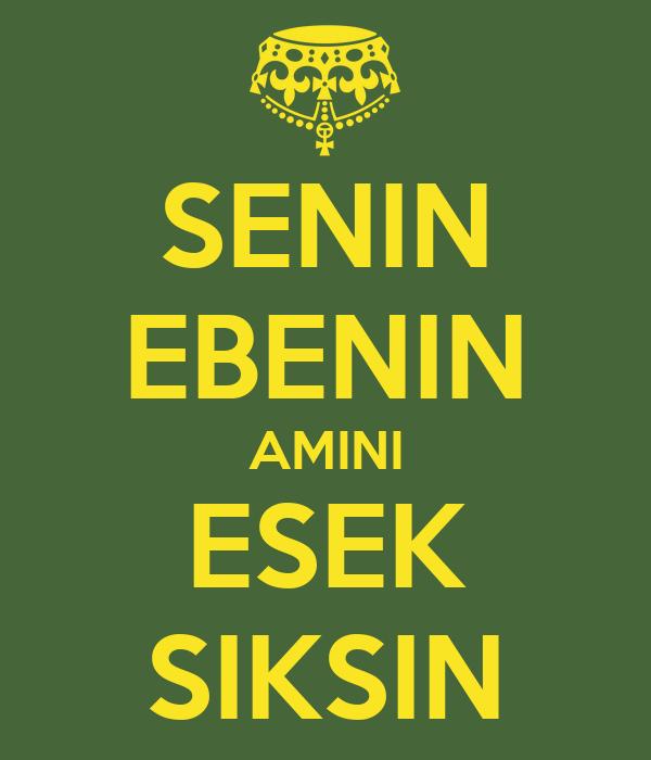 SENIN EBENIN AMINI ESEK SIKSIN
