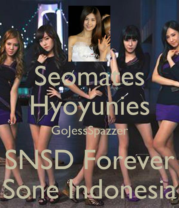 Seomates Hyoyunies GoJessSpazzer SNSD Forever Sone Indonesia