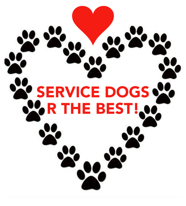 SERVICE DOGS R THE BEST!