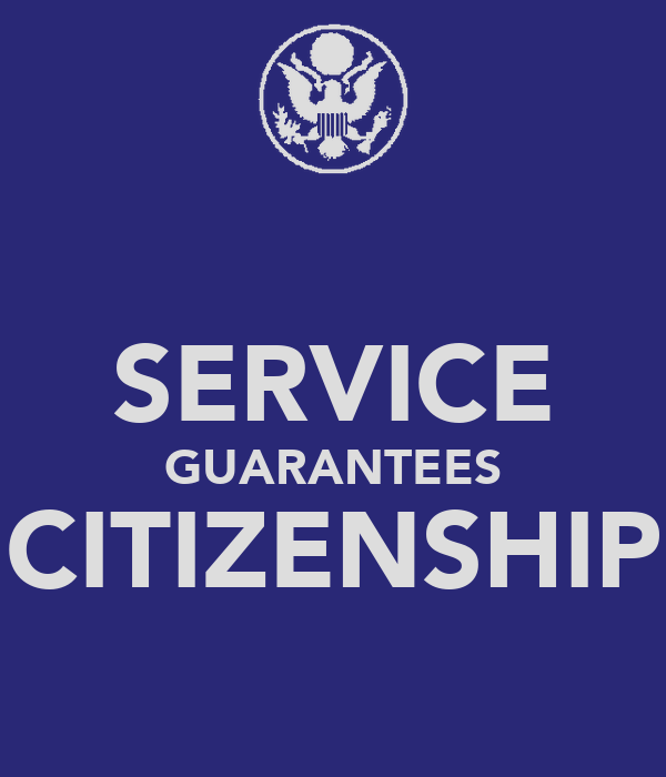SERVICE GUARANTEES CITIZENSHIP