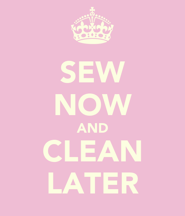 SEW NOW AND CLEAN LATER