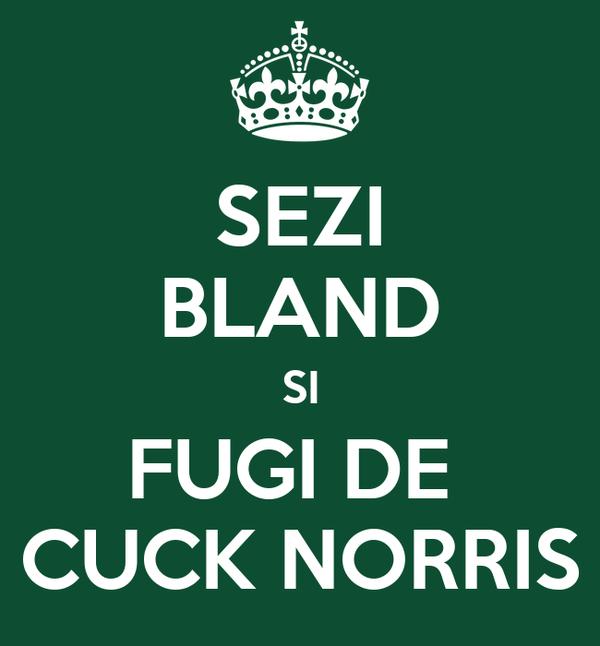 SEZI BLAND SI FUGI DE  CUCK NORRIS