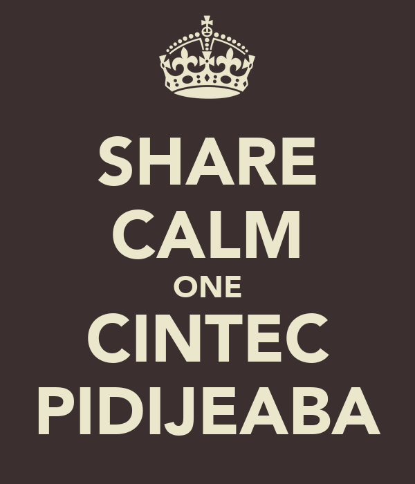 SHARE CALM ONE CINTEC PIDIJEABA
