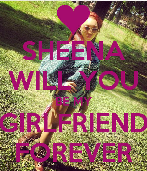 Sheena Will You Be My Girlfriend Forever Poster Paris Keep Calm