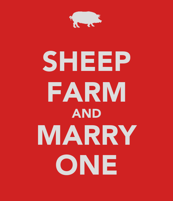SHEEP FARM AND MARRY ONE