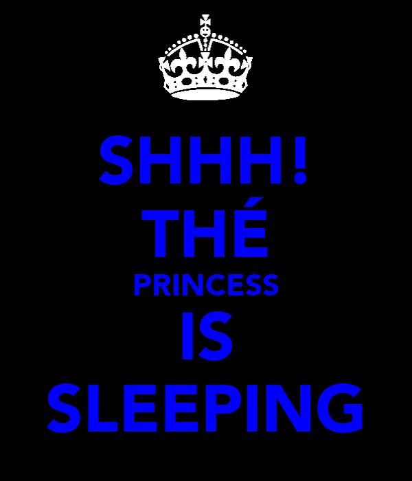 SHHH! THÉ PRINCESS IS SLEEPING