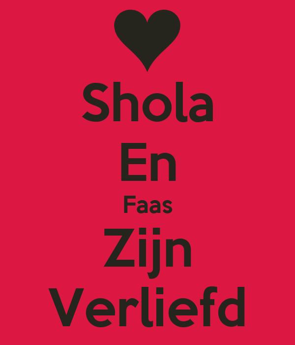 Shola En Faas Zijn Verliefd