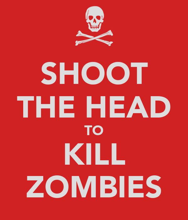 SHOOT THE HEAD TO KILL ZOMBIES