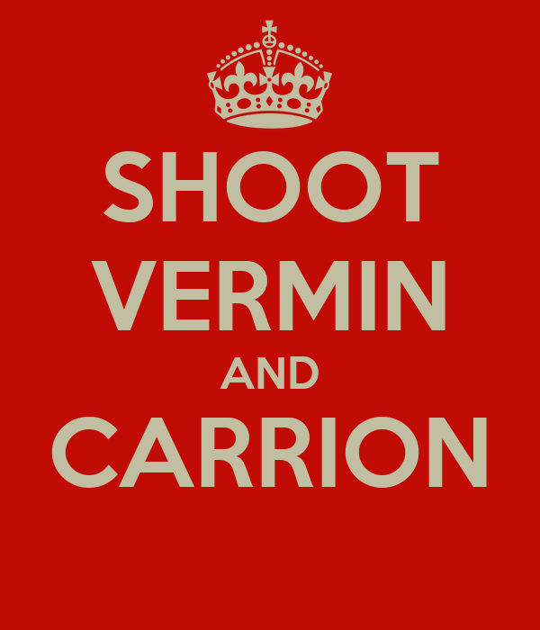 SHOOT VERMIN AND CARRION