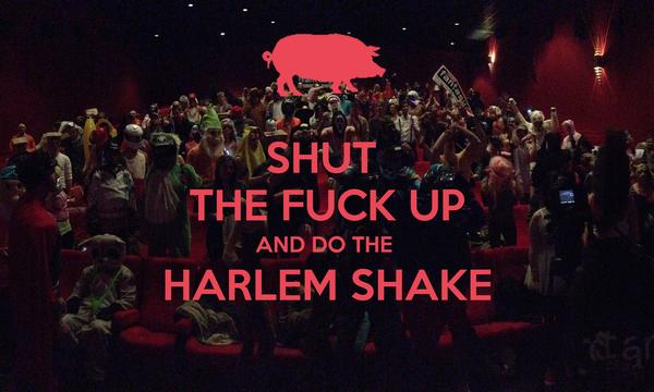 SHUT  THE FUCK UP AND DO THE  HARLEM SHAKE