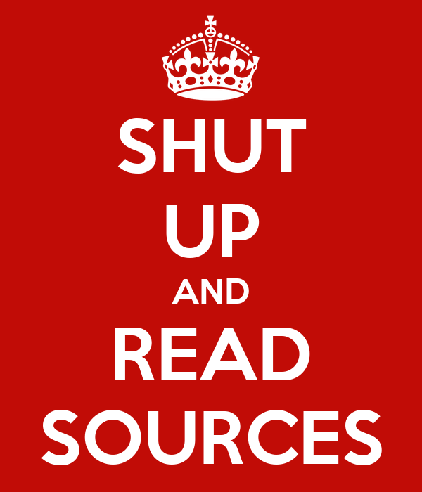 SHUT UP AND READ SOURCES