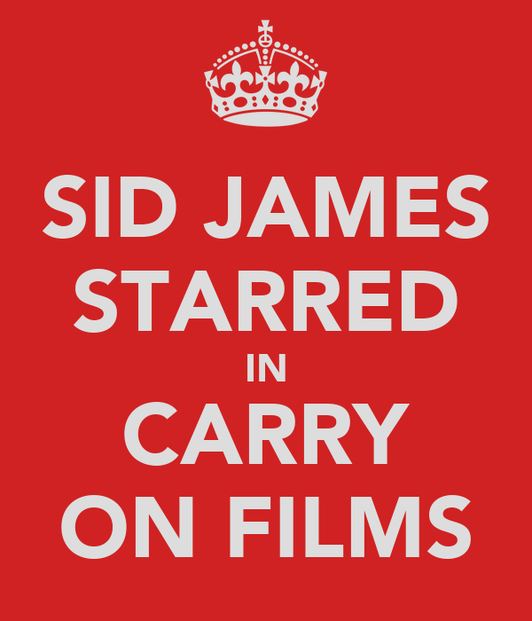 SID JAMES STARRED IN CARRY ON FILMS