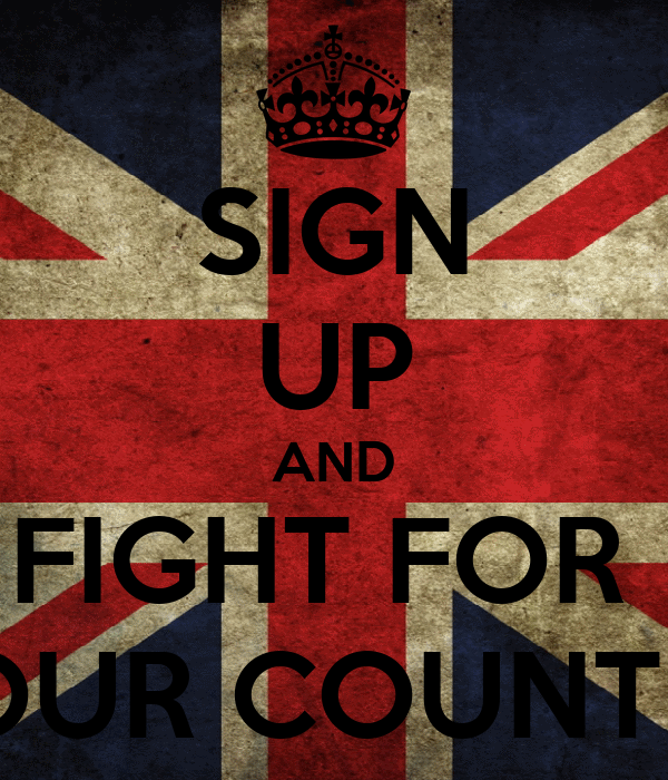 SIGN UP AND FIGHT FOR  YOUR COUNTRY