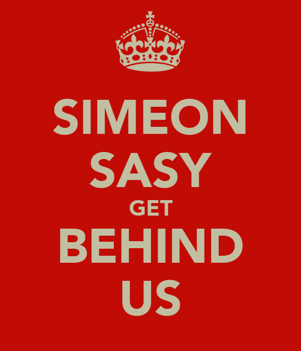 SIMEON SASY GET BEHIND US