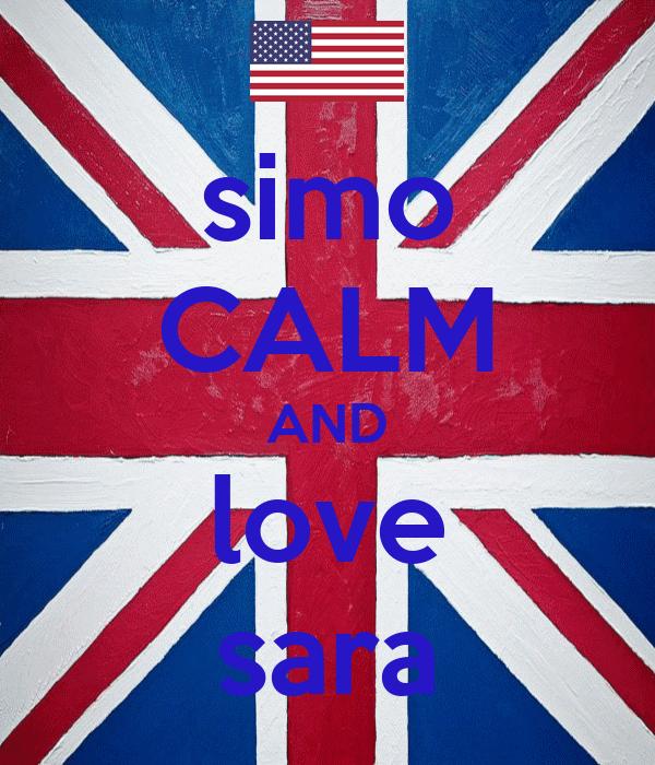Simo calm and love sara poster simolosi keep calm o matic simo calm and love sara thecheapjerseys Choice Image