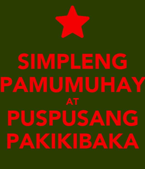 Simpleng pamumuhay essays