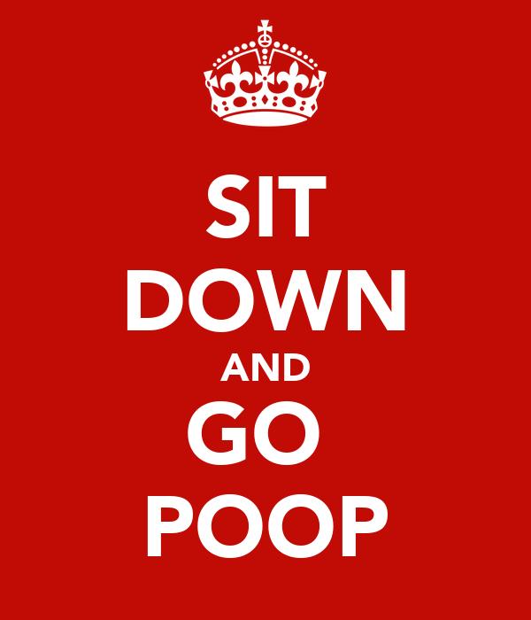 SIT DOWN AND GO  POOP