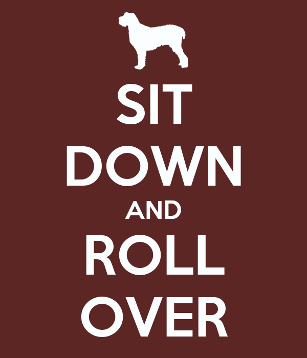 SIT DOWN AND ROLL OVER