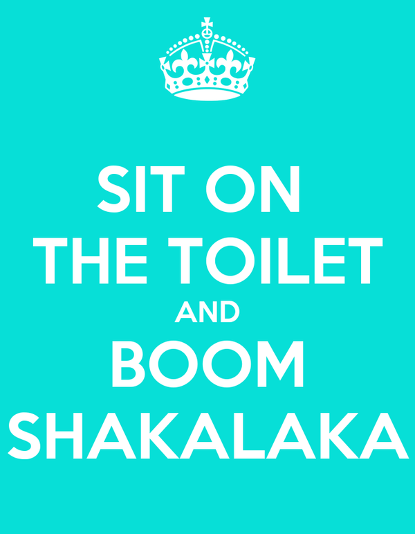 SIT ON  THE TOILET AND BOOM SHAKALAKA