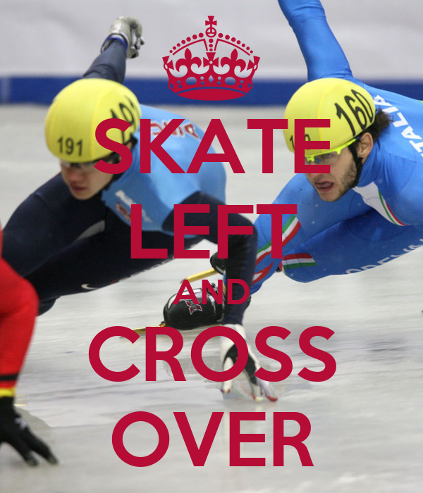 SKATE LEFT AND CROSS OVER