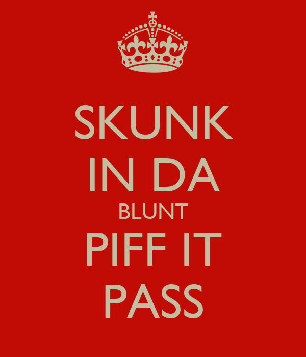 SKUNK IN DA BLUNT PIFF IT PASS