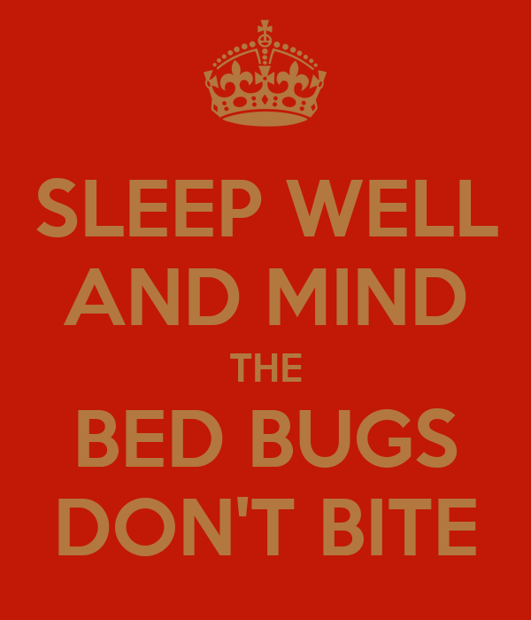 SLEEP WELL AND MIND THE BED BUGS DON'T BITE