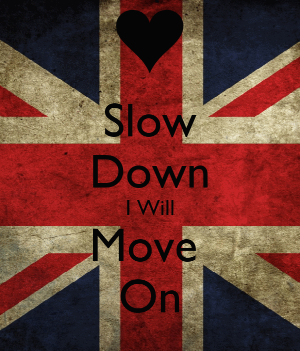 Slow Down I Will Move  On
