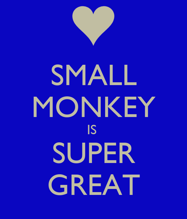 SMALL MONKEY IS  SUPER GREAT