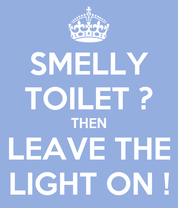 SMELLY TOILET ? THEN LEAVE THE LIGHT ON !
