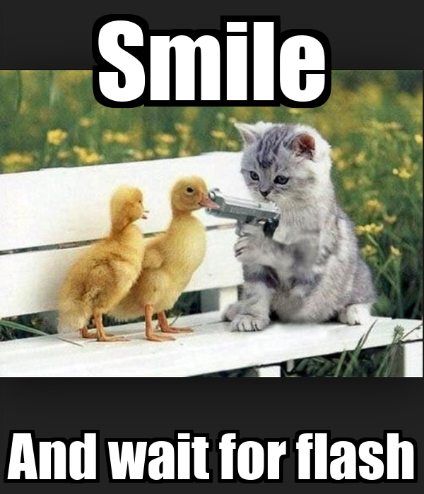 Smile And wait for flash