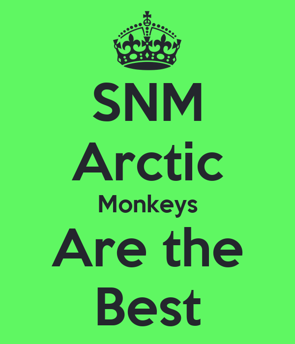 SNM Arctic Monkeys Are the Best