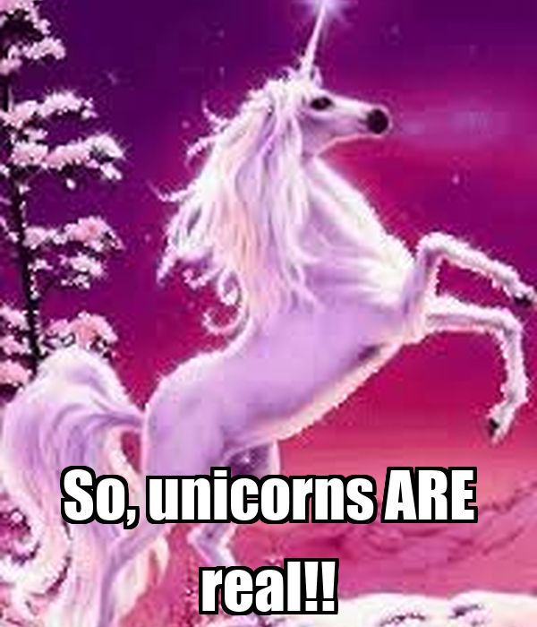 So, unicorns ARE real!!