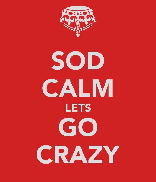 SOD CALM LETS GO CRAZY