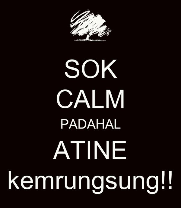 SOK CALM PADAHAL ATINE kemrungsung!!