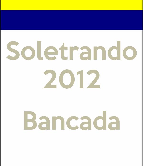 Soletrando 2012  Bancada